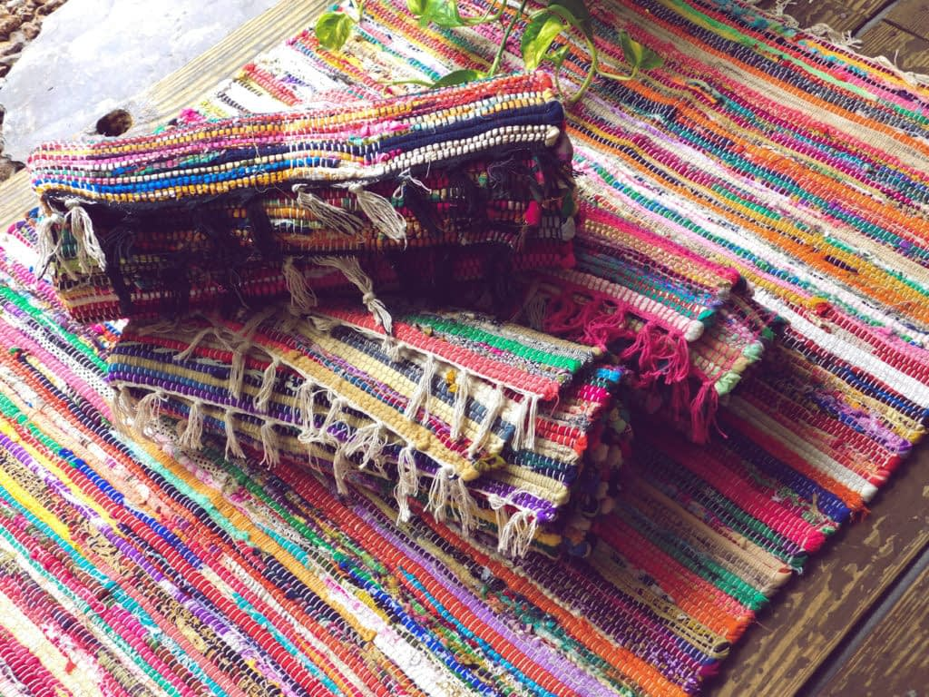 multicolored chindi rag rugs