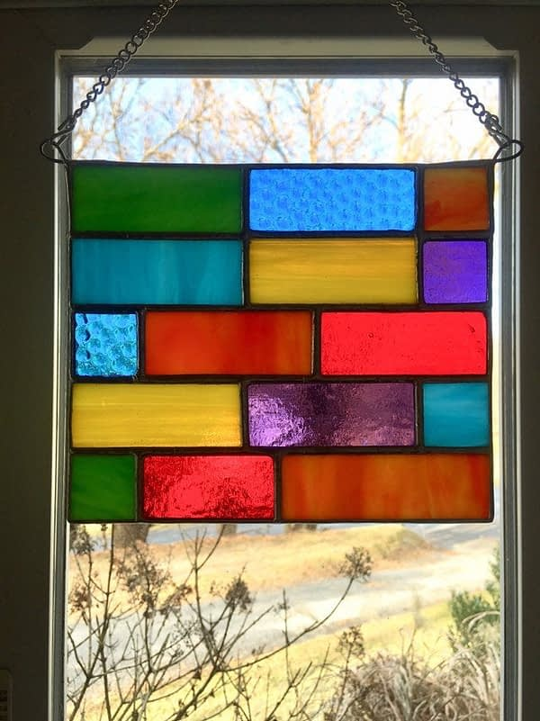 multi colored stained glass suncatcher mountain woman products