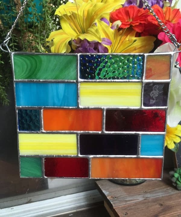 stained glass panel by mountain woman products